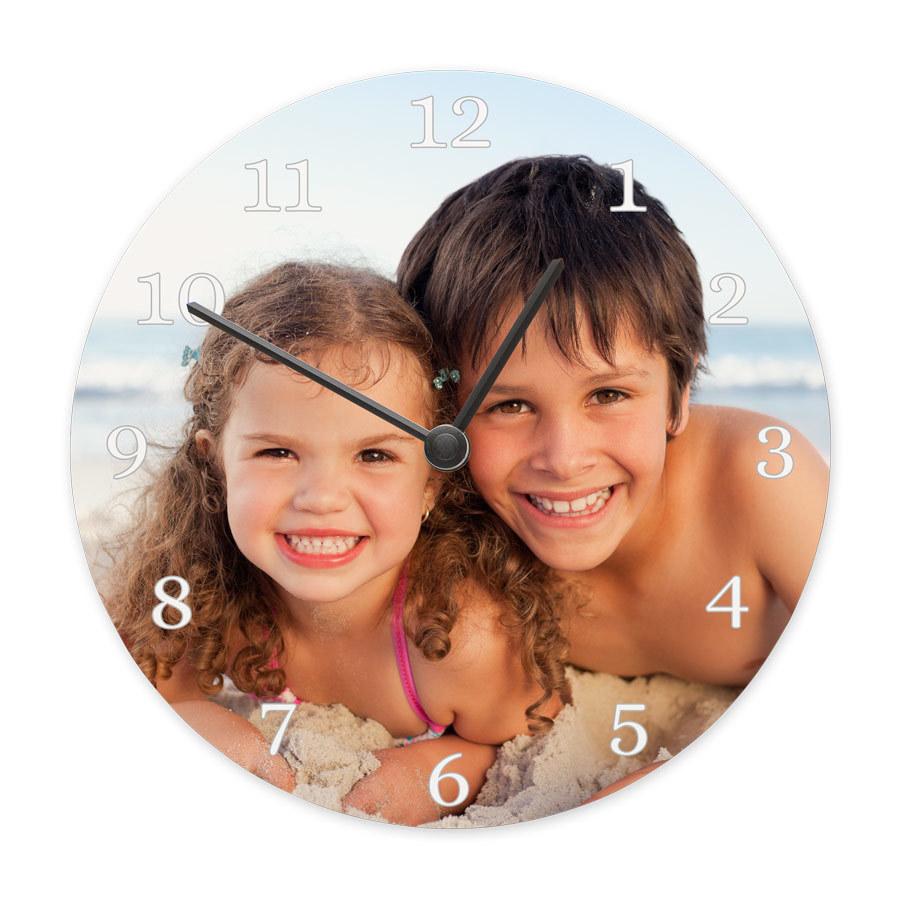Personlig klocka med ditt eget foto och text Image