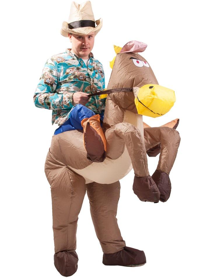 Uppblåsbar Maskeraddräkt Häst Image