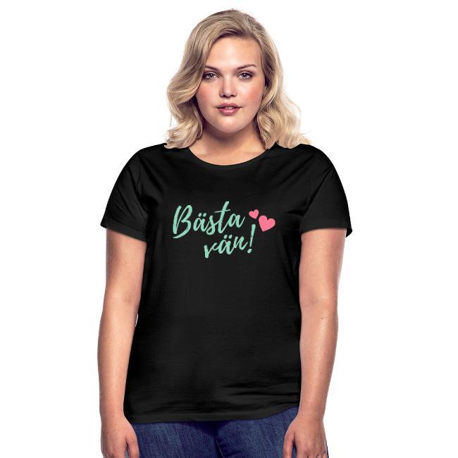 T-shirt dam - Bästa vän Image