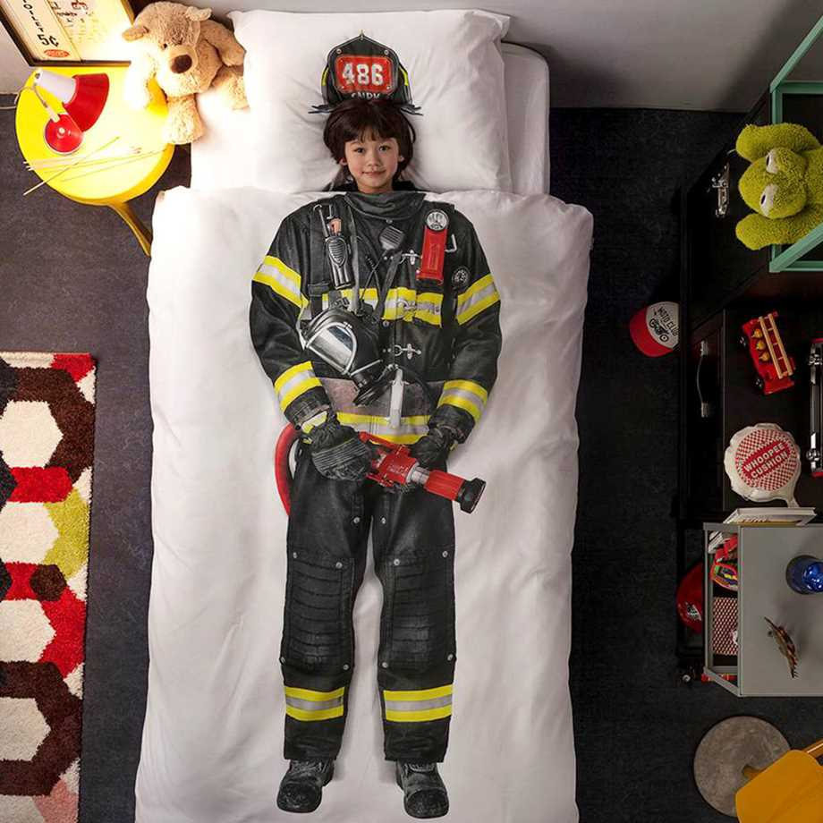 Snurk sängkläder - Brandman Image