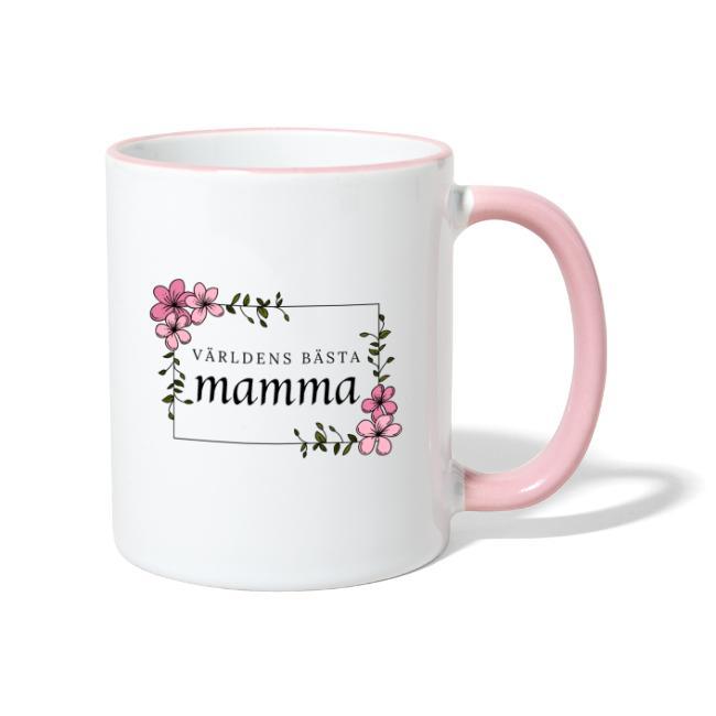 Världens bästa mamma - Tvåfärgad mugg Image