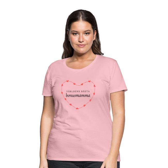Världens bästa bonusmamma - Premium-T-shirt dam Image
