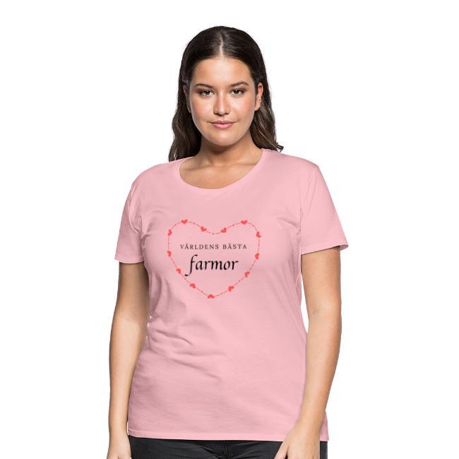 Världens bästa farmor - Premium-T-shirt dam Image