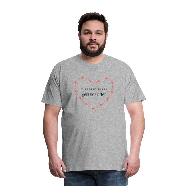 Världens bästa gammelmorfar - Premium-T-shirt herr Image