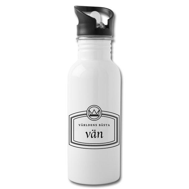 Världens bästa vän - Vattenflaska med integrerat sugrör Image
