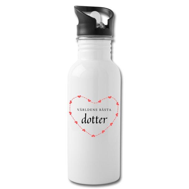 Världens besta dotter - Vattenflaska med integrerat sugrör Image