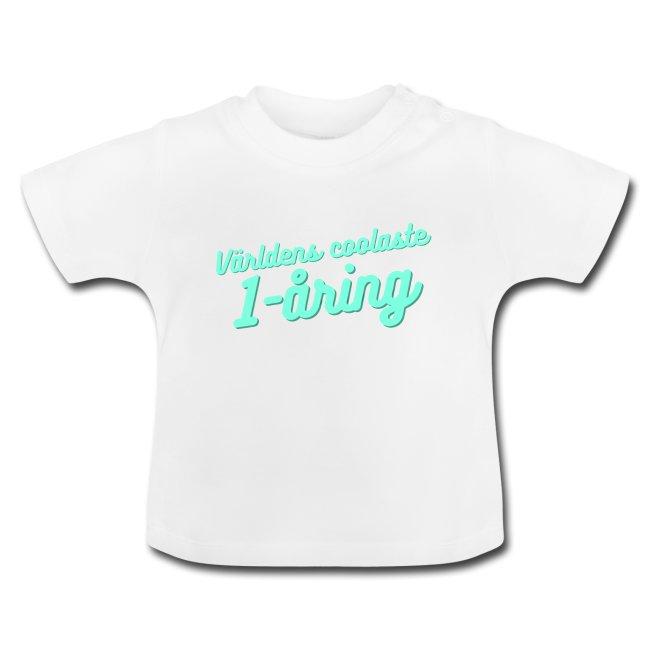 Världens coolaste 1-åring - Baby-T-shirt Image