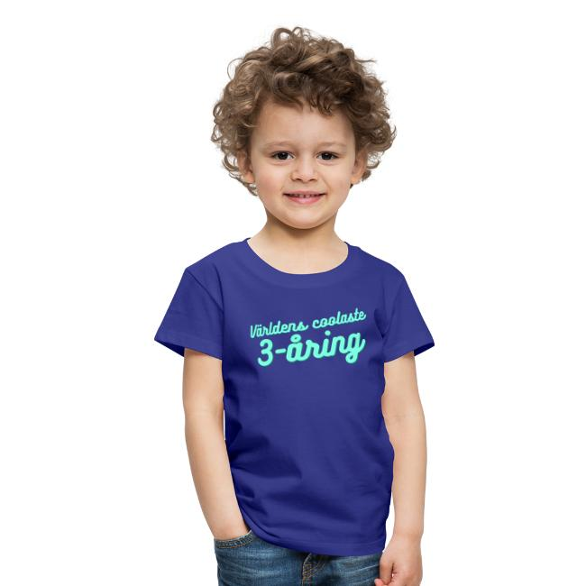 Världens coolaste 3-åring - T-shirt - Blå Image