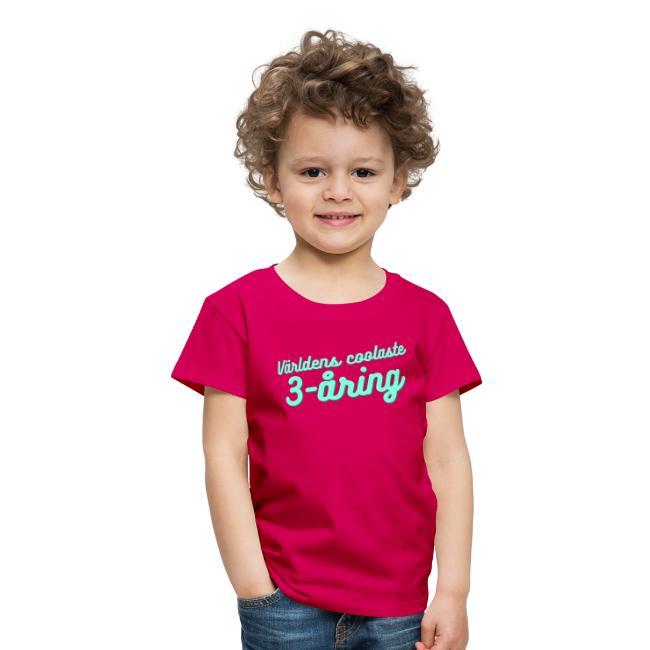 Världens coolaste 3-åring - T-shirt - Rosa Image