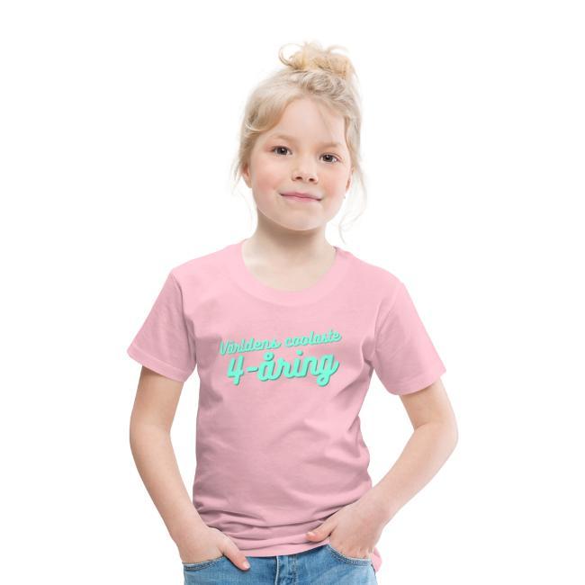 Världens coolaste 4-åring - T-shirt - Rosa Image