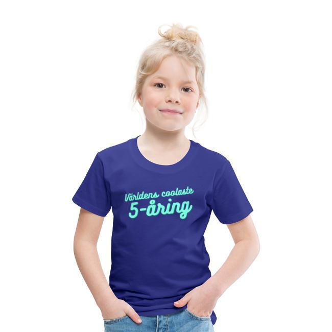 Världens coolaste 5-åring - T-shirt - Blå Image