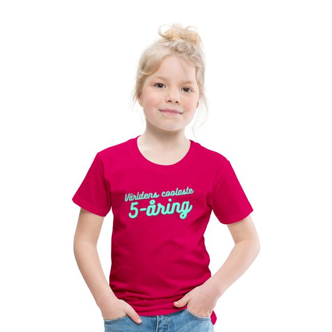 Världens coolaste 5-åring - T-shirt - Rosa Image