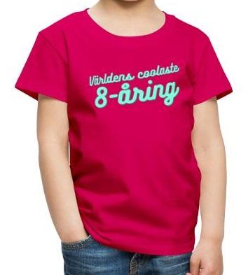 Världens coolaste 8-åring - T-shirt - Rosa Image