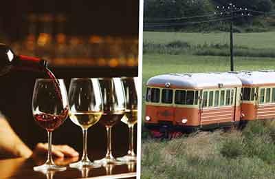 Tågresa med vinprovning & middag Image