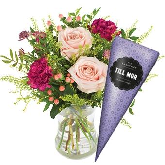 Skicka blommor och choklad Image